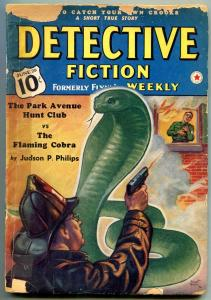 Detective Fiction Weekly Pulp June 29 1940- Cobra cover- Judson Philips