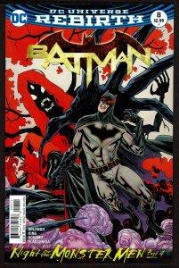 Batman #8 Rebirth (Dec 2016, DC) 0 9.2 NM-