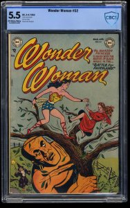 Wonder Woman #52 CBCS FN- 5.5 Off White to White
