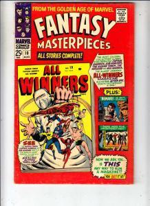Fantasy Masterpieces #10 (Aug-67) VF- High-Grade Captain America, Bucky Barnes