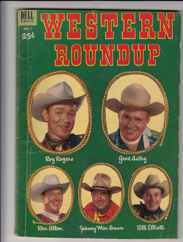 Dell Giant Western Roundup #2 (Jan-53) VG+ Affordable-Grade Roy Rogers, Dale ...