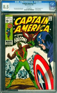 Captain America #117 CGC Graded 8.5 Origin & first appearance of Falcon and R...