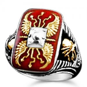 Roman Scutum ring sterling silver