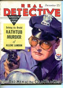 REAL DETECTIVE-DEC 1933-G/VG-HARD BOILED-SPICY-MURDER-RAPE-POISON- G/VG