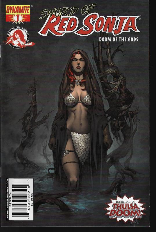 Red Sonja Doom of the Gods #1 (Dynamite) - Mel Rubi Cover