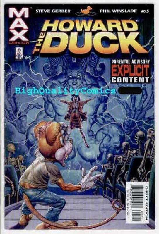 2002 HOWARD THE DUCK #5 NM MARVEL MAX GLENN FABRY COVER
