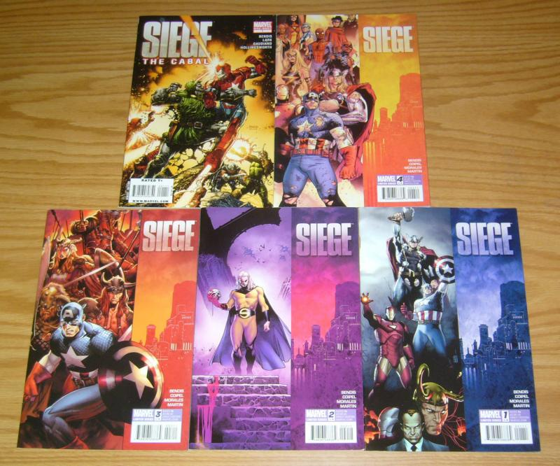 Siege #1-4 VF/NM complete series + cabal BRIAN MICHAEL BENDIS avengers marvel