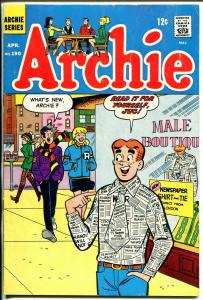 Archie #190 1969-newspaper shirt & tie-Betty-Veronica-FN-