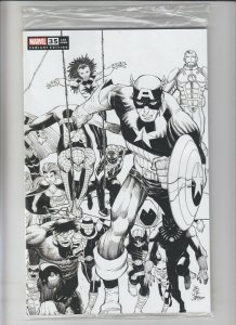 Fantastic Four #35 VF/NM One Per Store Black & White sketch variant JRJR PRH 680