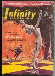 Infinity Science Fiction #5 10/1956-pulp thrills-Harlan Ellison-Robert Silverber