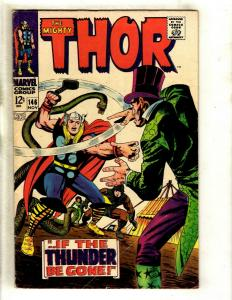 Thor # 146 VG/FN Marvel Comic Book Loki Odin Sif Avengers Hulk Iron Man GK4