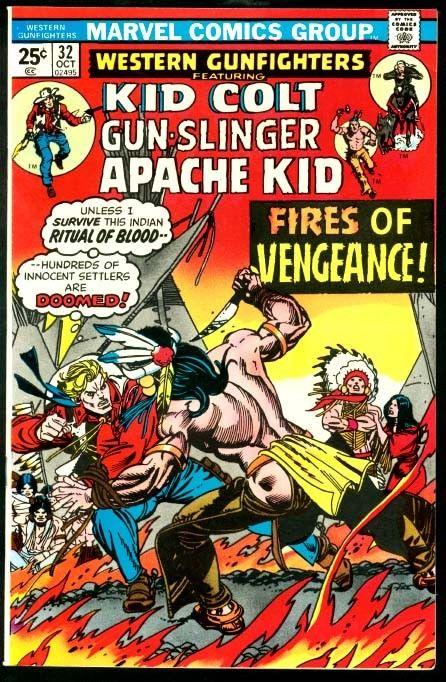 WESTERN GUNFIGHTERS #32-KID COLT-ORIGNAL GIL KANE COVER VF
