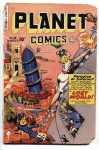 PLANET  #63 1949-FICTION HOUSE-GOOD GIRL SCI-FI ART-LOST WORLD STAR PIRATE