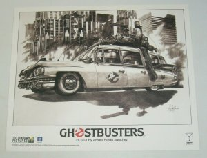 Ghostbusters Lithograph 14x17 cool poster ECTO-1 rare