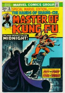 Special Marvel Edition MASTER OF KUNG FU #16 1974 ~ FN+ (PF361)