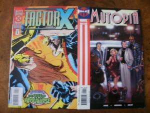 2 MARVEL Comic Book: FACTOR X #4 (Age of Apocalypse) & House of M: MUTOPIA #1
