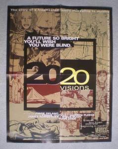 2020 VISIONS Promo Poster, Vertigo, 17x22, 1997, Unused, more Promos in store