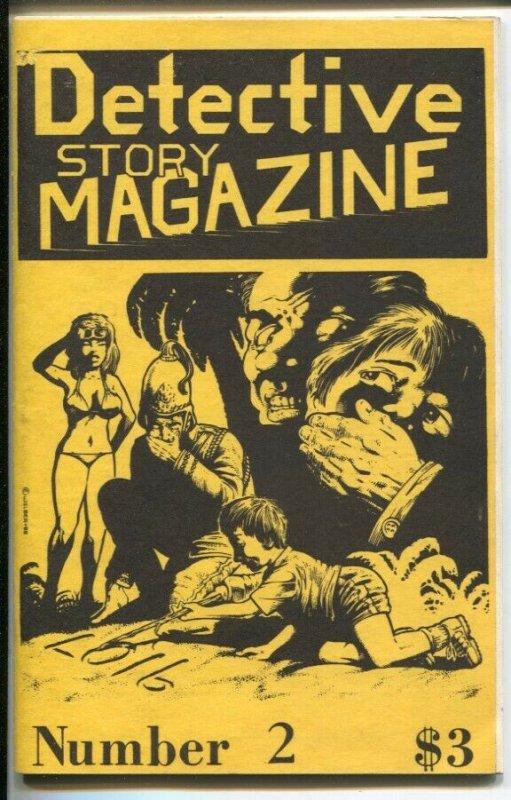 Detective Story Magazine #2 1988-Gryphon-Michael Avallone-R E Vaoghn-VF