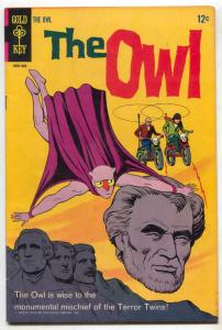 The Owl #2 1968- FINAL ISSUE- Rare- Mount Rushmore F/VF
