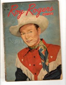 Four Color Roy Rogers # 166 VG Dell Golden Age Comic Book Western Cowboy JL10