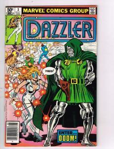 Dazzler #3 Marvel Comics Bronze Age Comic Book Dr Doom May 1981 DE42