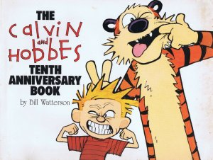 VINTAGE 1995 Calvin and Hobbes 10th Anniversary Book Bill Watterson