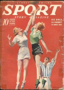 SPORT STORY PULP MAG-GIRLS' BASKETBALL COVER-BASEBALL-BOXING-FUN-MAR 1-1939