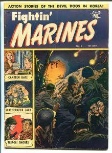 Fightin' Marines #6 1952-St John-Matt Baker-Canteen Kate-VG+