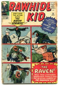 Rawhide Kid #35-JACK DAVIS ART -THE RAVEN-1963 G