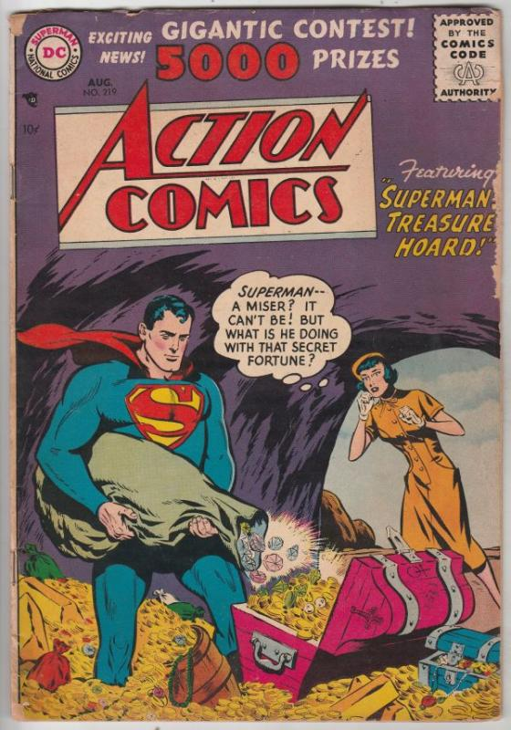Action Comics #219 (Aug-56) VG+ Affordable-Grade Superman