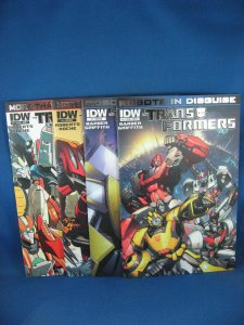 Lot 4 TRANSFORMERS ROBOTS IN DISGUISE Foil Stamped Variants NM+ 2012 Rare