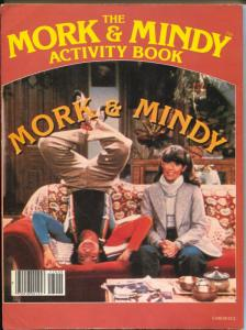 Mork and Mindy Activity Book 1978-Robin Williams-Pam Dawber-TV series-VG