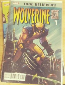 TRUE BELIEVERS WOLVERINE # 1  2019  marvel  enemy of the state