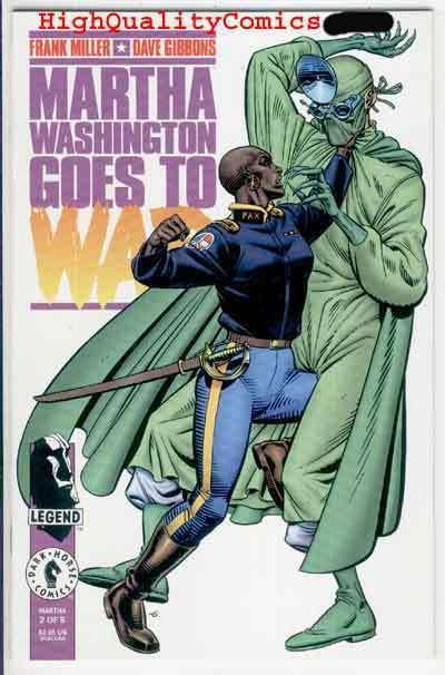 MARTHA WASHINGTON GOES TO WAR #2, NM+, Frank Miller, Guns, 1994, Dave Gibbons