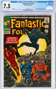 Fantastic Four #52 CGC Graded 7.5 1st appearance of the Black Panther (T'Chal...