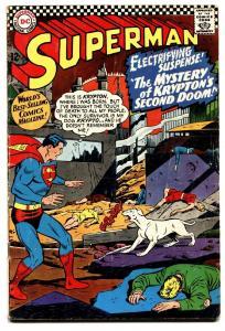 SUPERMAN #189 1966-DC COMICS-KRYPTONS 2ND DOOM KRYPTO VG-