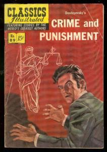 CLASSICS ILLUSTRATED #89 HRN 89-CRIME OF PUNISHMENT-1ST VG
