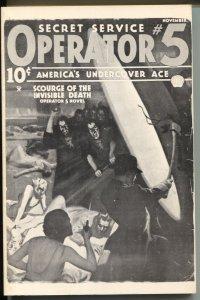Operator #5 10/1980-Dimedia-reprints pulp of 11/1935-Invisible Death-VF