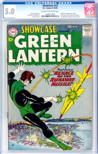 Showcase #22 CGC Graded 5.0 Origin and 1st appearance of Siver Age Green Lant...
