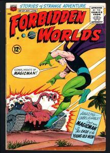 FORBIDDEN WORLDS #127-1965-SILVER-AGE SCI-FI-ACG-MAGICMAN-FN FN