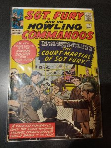 Sgt. Fury and his Howling Commandos #7 - Court Martial of Fury - 1964
