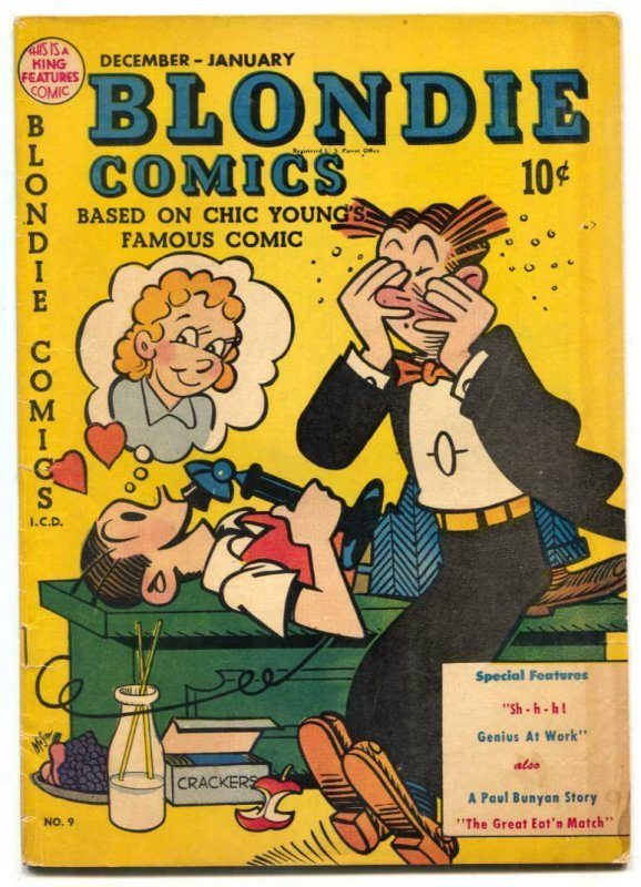 Blondie Comics #9 1948- Paul Bunyan- Damon Runyon
