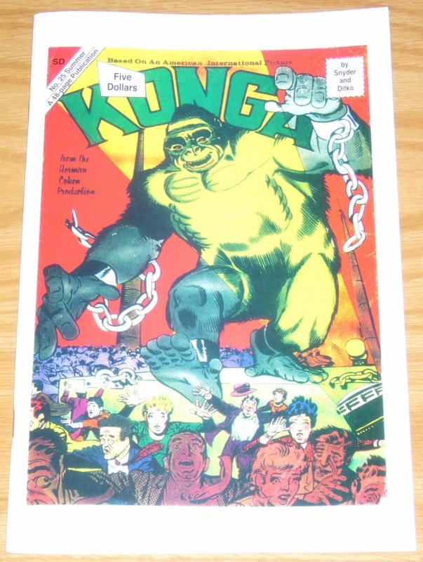 Konga #25 VF/NM last published comic by steve ditko - summer 2018