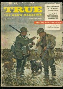 TRUE MAGAZINE OCT 1956-FAWCETT-SPECIAL HUNTING ISSUE VG