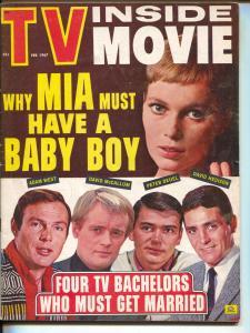 TV Inside Movie-Mia Farrow-David McCallum-Dean Martin-Michael Caine-Feb-1967