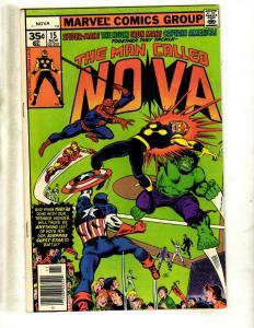 Lot Of 5 NOVA Marvel Comic Books # 15 16 18 19 20 Guardians Avengers Hulk WS10