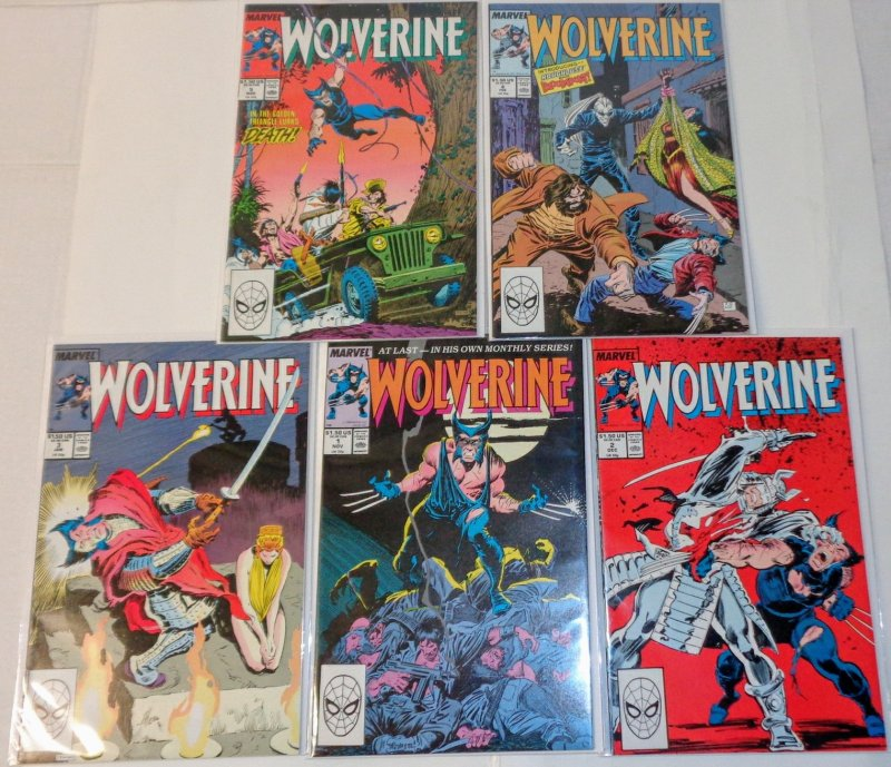 Wolverine #1-5 comic lot 1986 1st ongoing series CL027