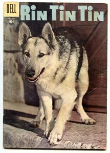Rin Tin Tin #17 1957- GERMAN SHEPHERD photo cover VG