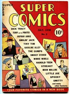 Super Comics #3 1938-DICK TRACY-ORPHAN ANNIE-Rare Golden-Age Comic