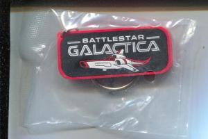 Battlestar Galactica Key Ring Fob 12/1996-promo item-still sealed-VF